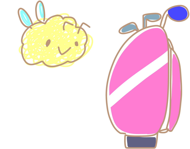 クマバチとゴルフバッグ