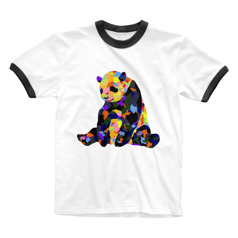 カラフルなパンダ