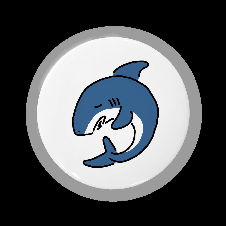 サメの缶バッジ