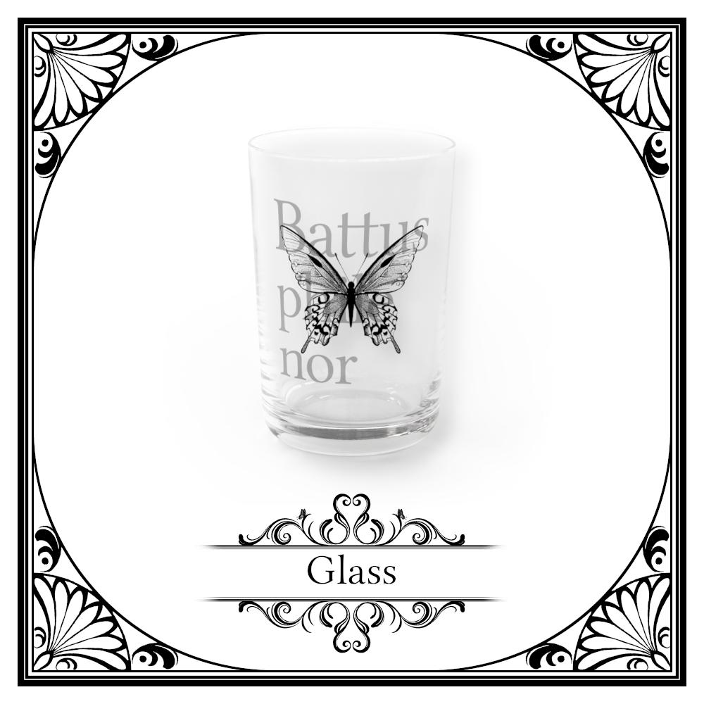蝶のグラス