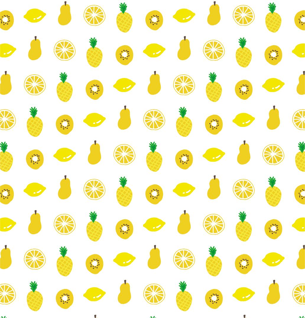 黄色いフルーツのパターン