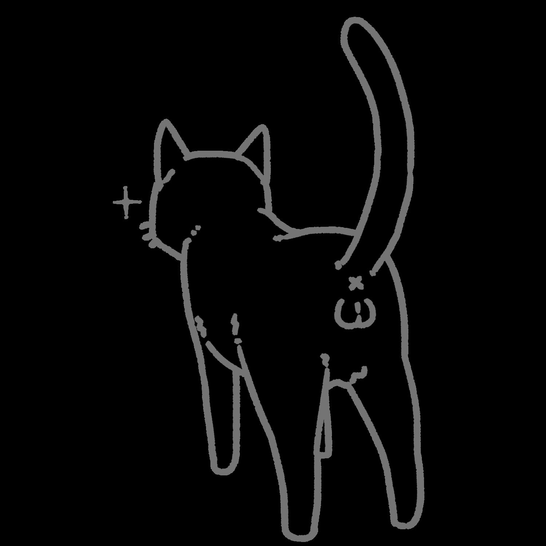 ねこけつω(黒猫)