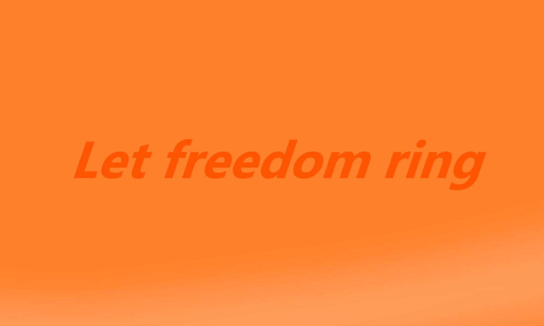 自由の鐘を響かせよう