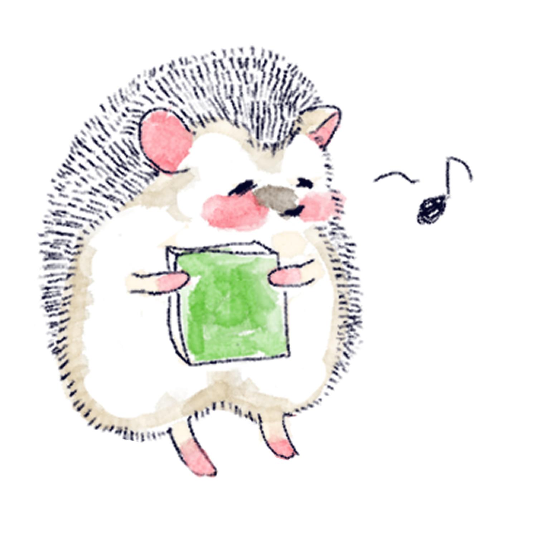 大好きな本をゲットするハリネズミのソフィー