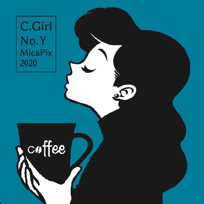 Coffee&Girl レトロブルー・ライン