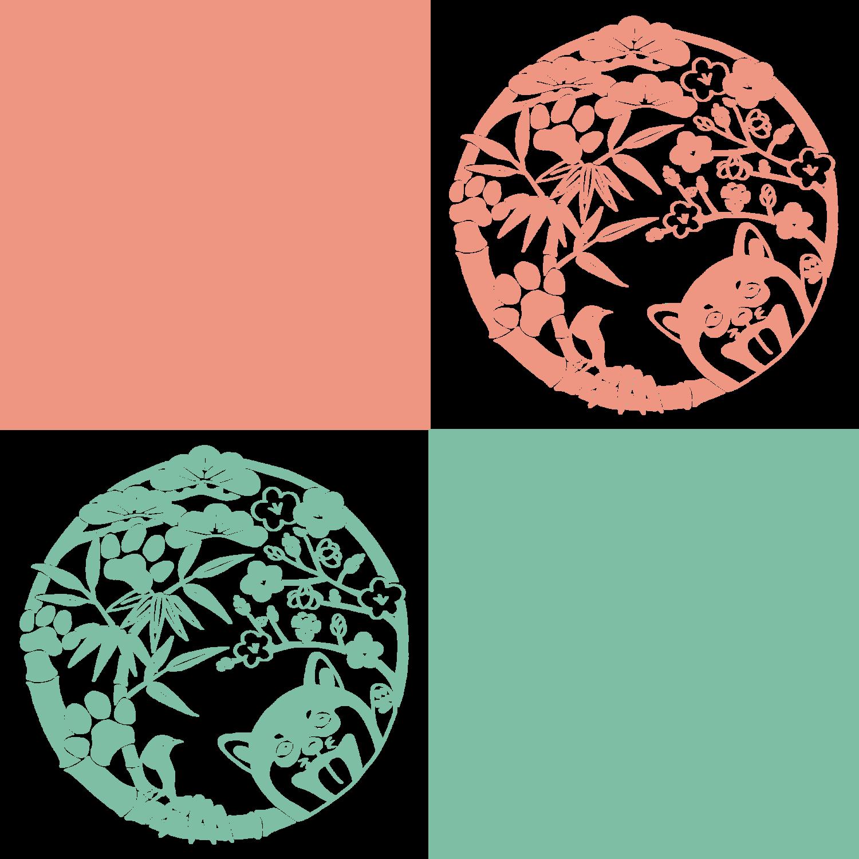柴犬-桃緑