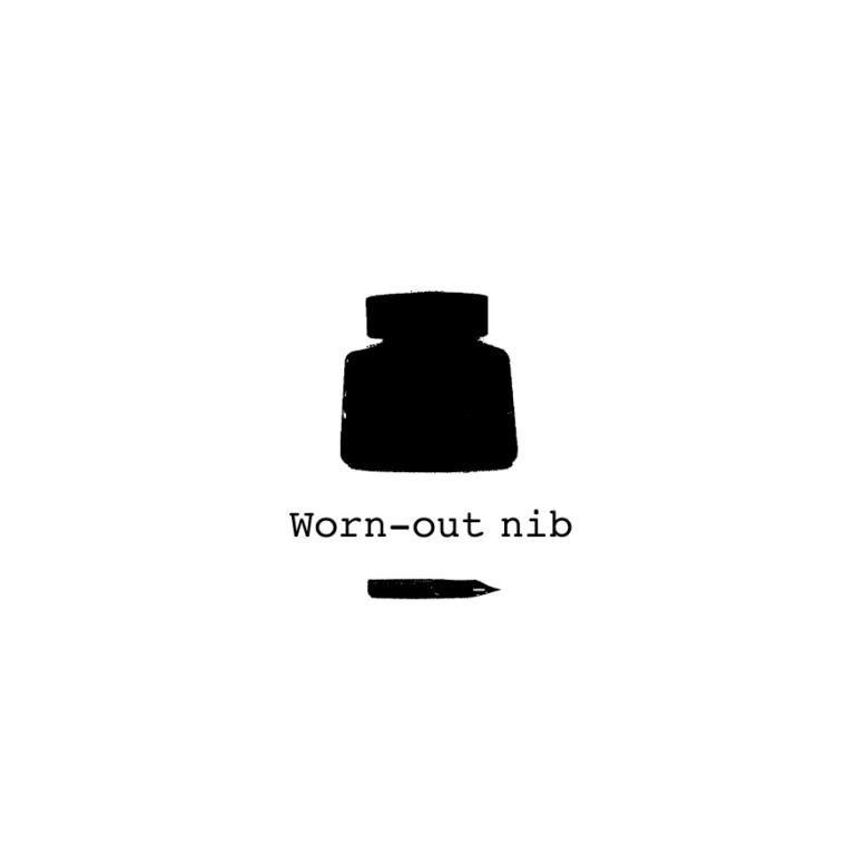 Worn-out nib