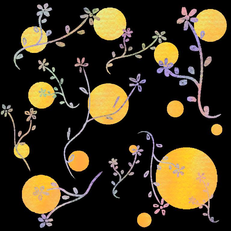パステル草花