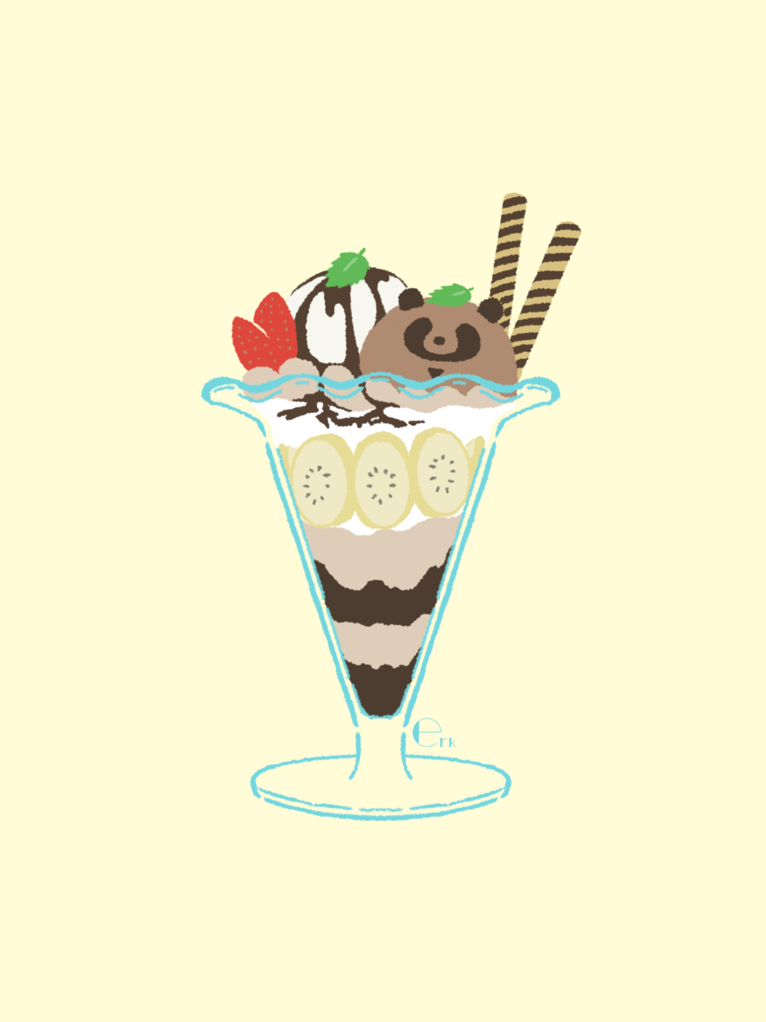 チョコレート•タヌキ•パフェ