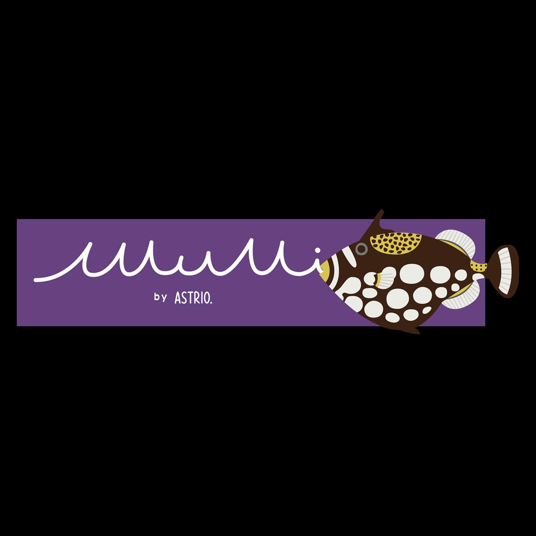 バナーロゴと魚やウミウシ