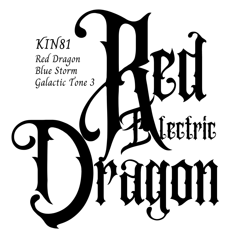 KIN81赤い電気の龍
