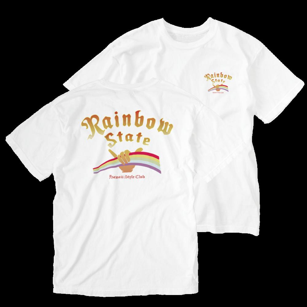 ウォッシュTシャツ(バックプリント)