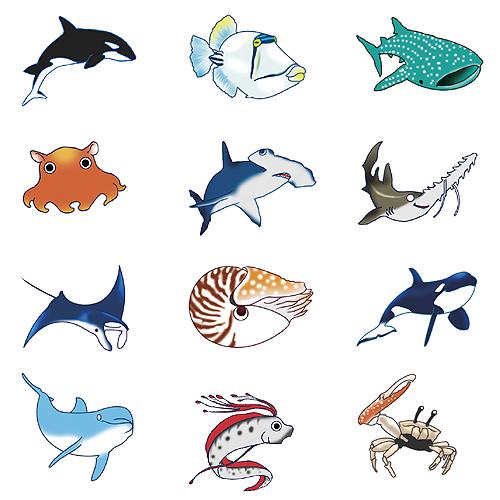 【デザイン】海洋生物