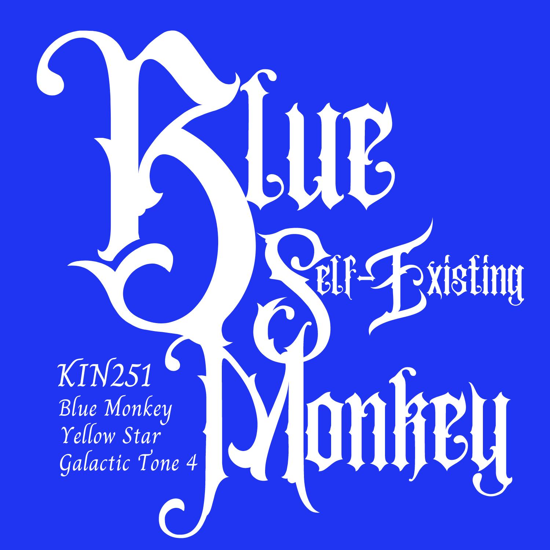 KIN251青い自己存在の猿