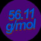 56.11g/mol ( KOH_5611 )