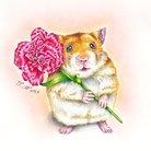 ボールペン画と可愛い動物 ( kukka07 )