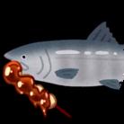 鮭の皮 ( kedarui_hito )