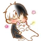 許されたモノクロ猫こ ( kuro_9376 )