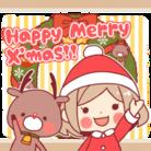 サンタガール&トナカイ ( SantaGirl-reindeer )