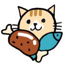 グルメ猫 ( pochi-co )